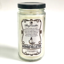 "Lime, Ginger, Coconut Scented Coconut Wax Candle 12oz ||""Seahorse Wishes"""