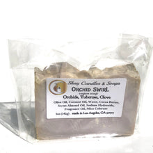 Orchid Swirl Vegan 5oz Soap.  Sophisticated scent blend of orchid, tuberose and clove.