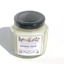 Lavender Fields 6oz Coconut Wax Candle. The scent of fresh Lavender Blossoms.