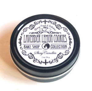 "Lavender, Lemon Cookie Scented Candles ||Set of Three 2oz Tins ||""Lavender Lemon Cookie"""