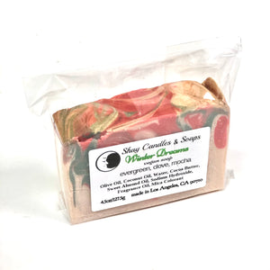 "Evergreen, Clove, Mocha Soap Set   ||""WINTER DREAMS"""