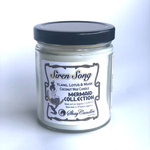 "Ylang, Lotus, Musk Scented Coconut Wax Candle 6oz ||""Siren Song"""