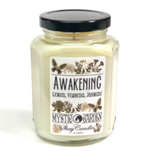 "Lemon, Verbena, Jasmine Scented 12oz Coconut Wax Candle ||""Awakening"""