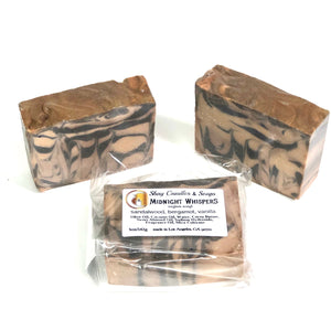 "Sandalwood, Bergamot, Vanilla Vegan Soap Set ||""MIDNIGHT WHISPERS"""