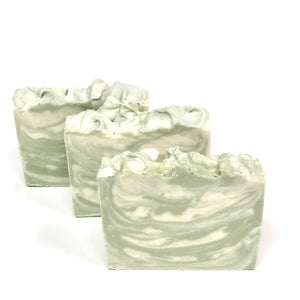 "Basil, Cucumber Vegan Soap Set ||""BASIL HARVEST"""