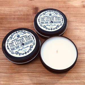"Lemon Tart Scented Coconut Wax Candle ||Set of Three 2oz Travel Tins ||""The Lemon Tart"""