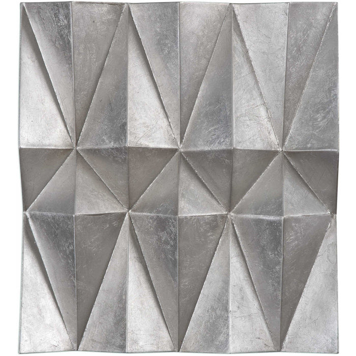 Uttermost 4052 Maxton Multi-Faceted Panel Wall Art Set of 3