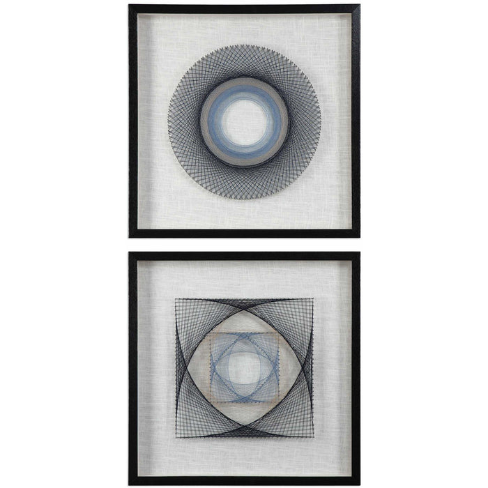 Uttermost 4111 String Duet Geometric Wall Art Set of 2