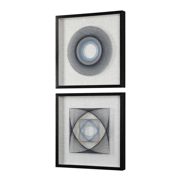 Uttermost 4111 String Duet Geometric Wall Art Set of 2 - ALCOVE LIGHTING