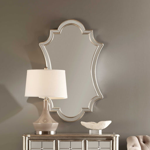 Uttermost 8134 Elara Antiqued Silver Wall Mirror - ALCOVE LIGHTING