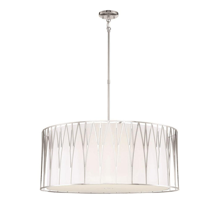 Minka Lavery Regal Terrace 6 Light LED Pendant with Poslished Nickel Finish (Pendant 32 in W x 27 in H)