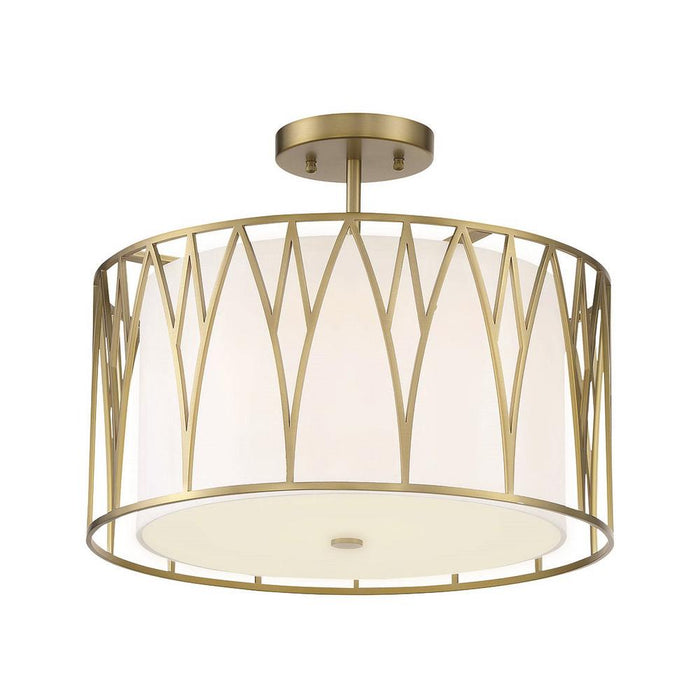 Minka Lavery Regal Terrace LED Semi Flush Mount Ceiling Light in Soft Brass (16.12 in W x 13 in H)