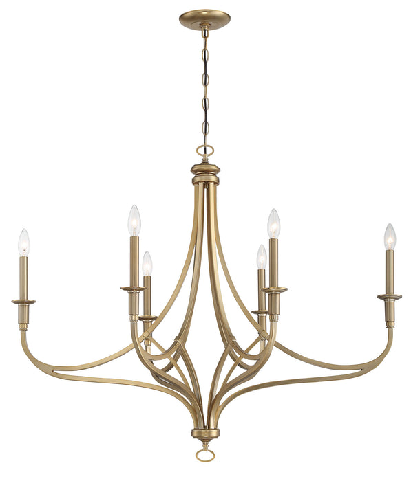 Minka Lavery Covent Park 6 Light Chandelier with a Brushed Honey Gold Finish (Chandelier 40 in W x 32 in H)