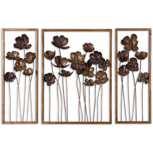 Uttermost 12785 Metal Tulips Wall Art Set of 3
