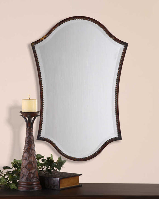 Uttermost Abra Vanity Mirror | Arch Wall Mirror in Bronze Finish