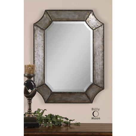 Uttermost 13628 B Elliot Distressed Aluminum Mirror - ALCOVE LIGHTING