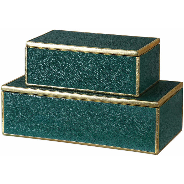 Uttermost 18723 Karis Emerald Green Boxes