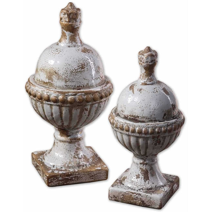 Uttermost 19231 Sini Ceramic Finials Sculptures
