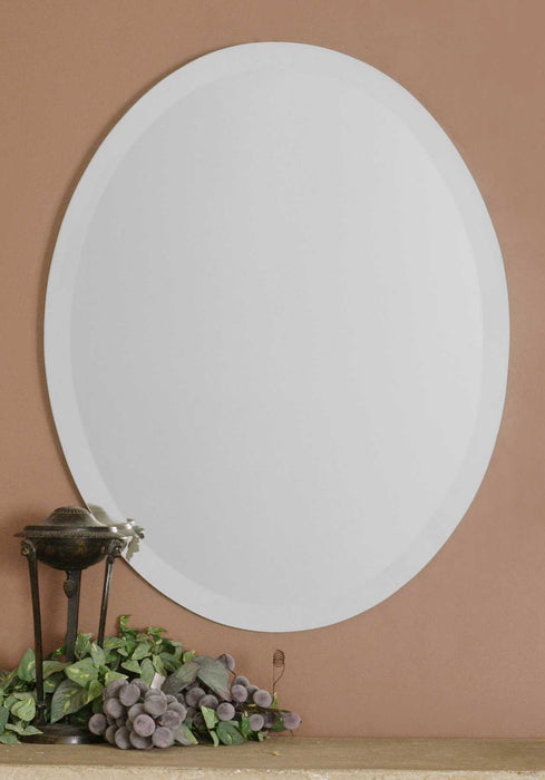 Uttermost Frameless Vanity Oval Mirror