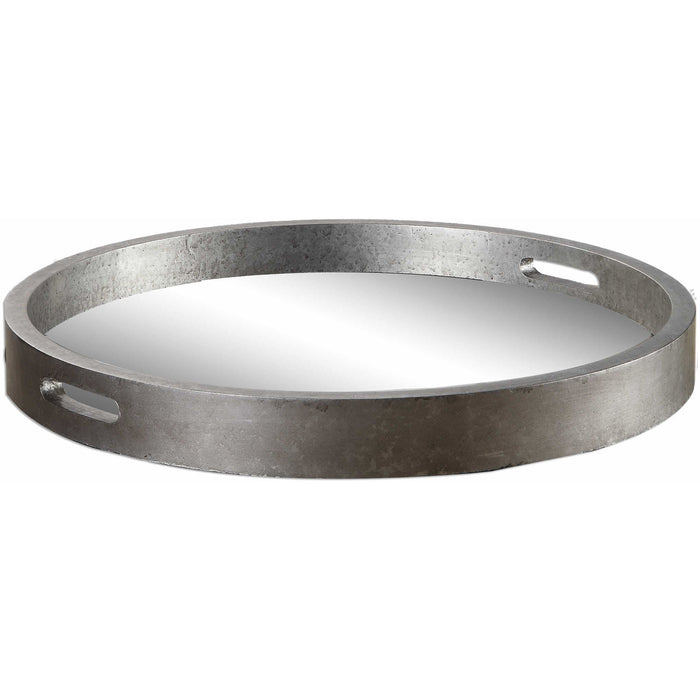Uttermost 19997 Bechet Round Silver Tray