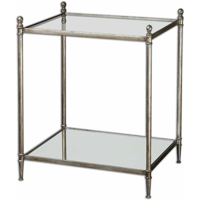 Uttermost 24282 Gannon Mirrored Glass End Table