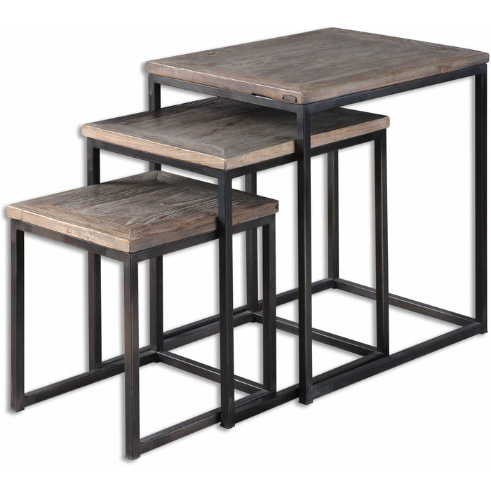 Uttermost 24460 Bomani Wood Nesting Tables