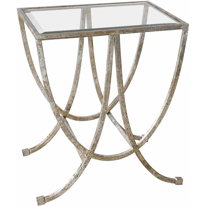 Uttermost 24592 Marta Antiqued Silver Side Table