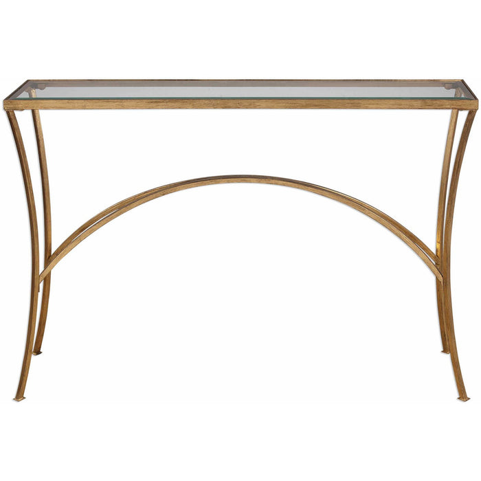 Uttermost 24640 Alayna Gold Console Table