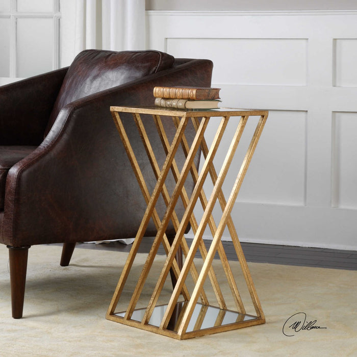 Uttermost 24723 Janina Gold Dimensional Accent Table - ALCOVE LIGHTING