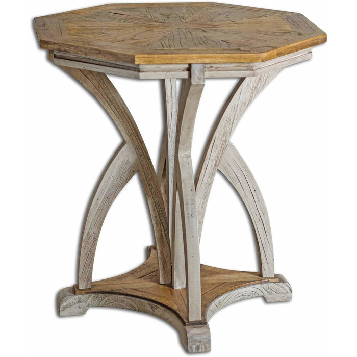 Uttermost 25623 Ranen Aged White Accent Table