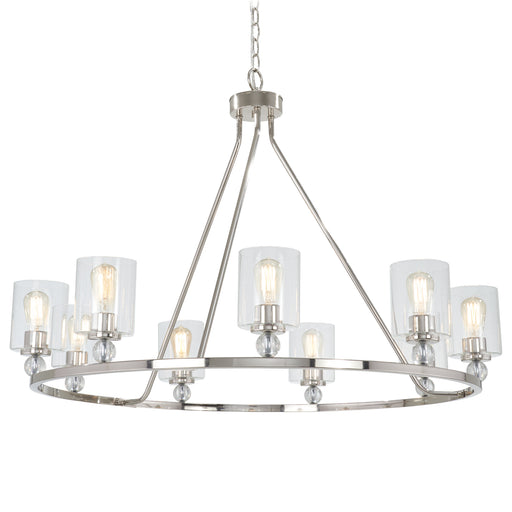 Minka Lavery 3087-613 Studio 5 9 Light Polished Nickel Chandelier