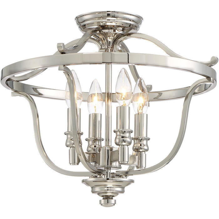 Minka Lavery 3296-613 Audrey'S Point 4 Light Semi Flush Mount