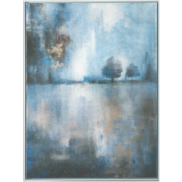 Uttermost 36100 Lake At Dusk Hand Painting Canvas Art