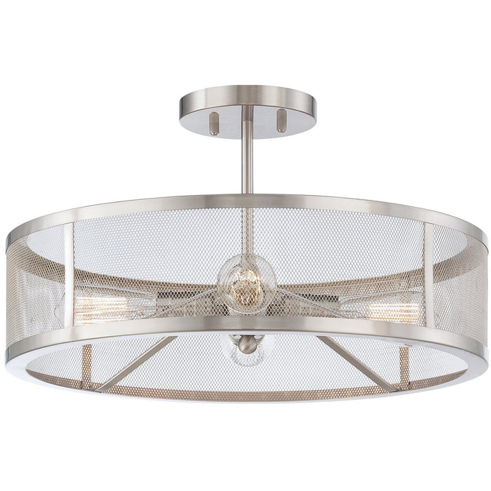 Minka Lavery 4134-84 Downtown Edison 4 Light Semi Flush Mount