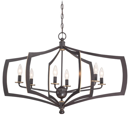 Minka Lavery 4376-579 Middletown 6 Light Downton Bronze Chandelier
