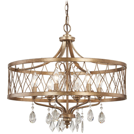 Minka Lavery 4406-581 West Liberty 6 Light Olympus Gold Chandelier