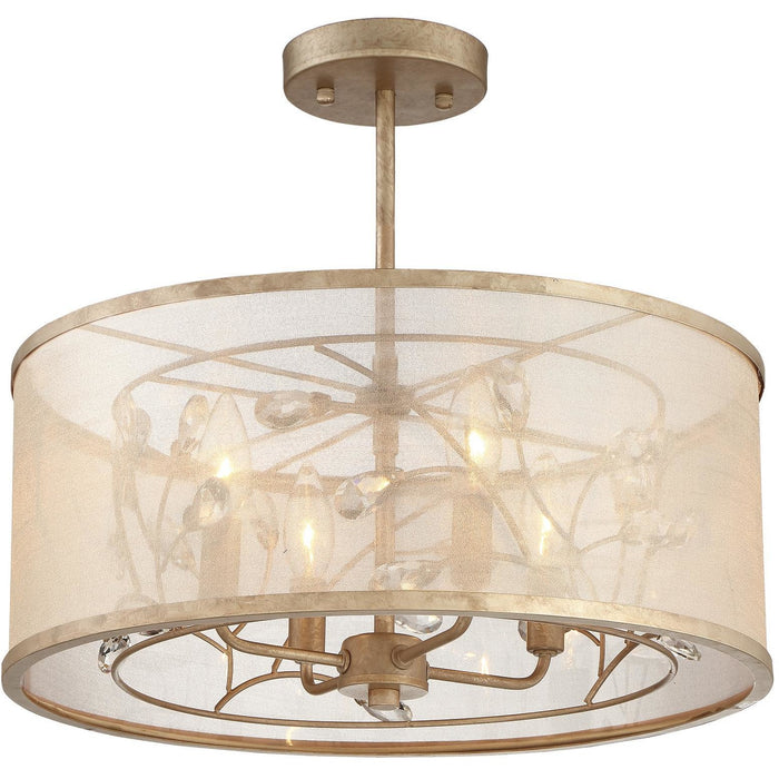 Minka Lavery 4434-252 Sara'S Jewel 4 Light Semi Flush Mount