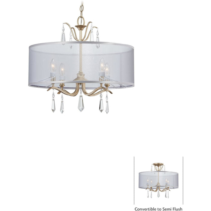 Minka Lavery 4443-582 Laurel Estate 4 Light Semi Flush Mount