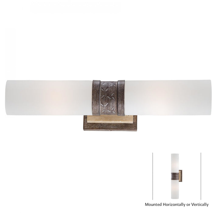 Minka Lavery 4462-273 Compositions 2 Light Wall Light Sconce