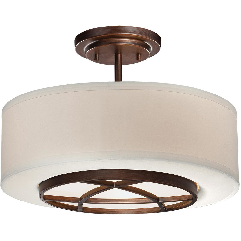 Minka Lavery 4951-267B City Club 3 Light Semi Flush Mount