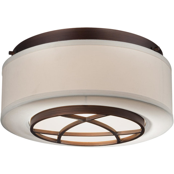 Minka Lavery 4952-267B City Club 2 Light Flush Mount