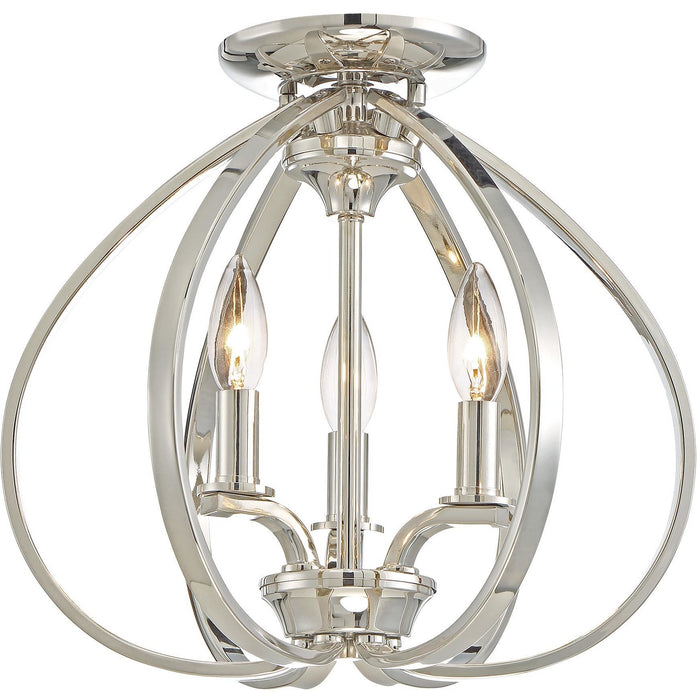 Minka Lavery 4983-613 Tilbury 3 Light Semi Flush Mount