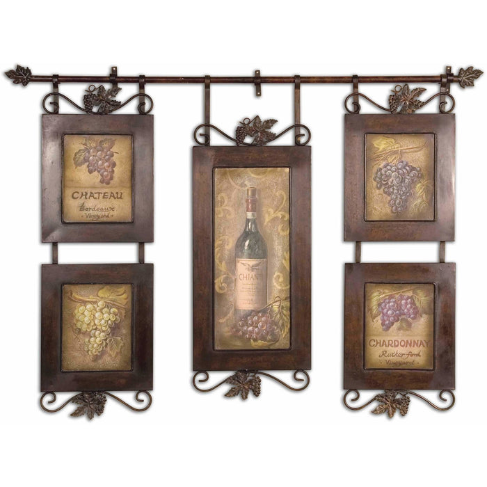 Uttermost 50791 Hanging Wine Framed Wall Art