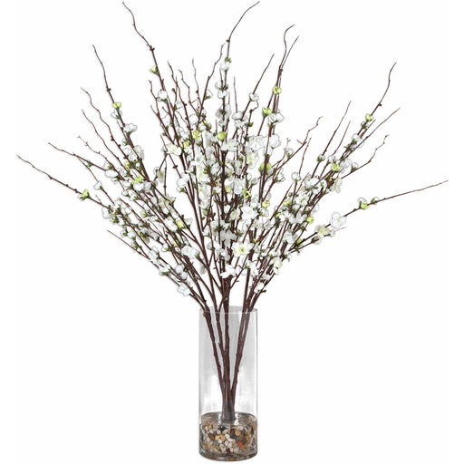 Uttermost 60128 Quince Blossoms Silk Flower Vase