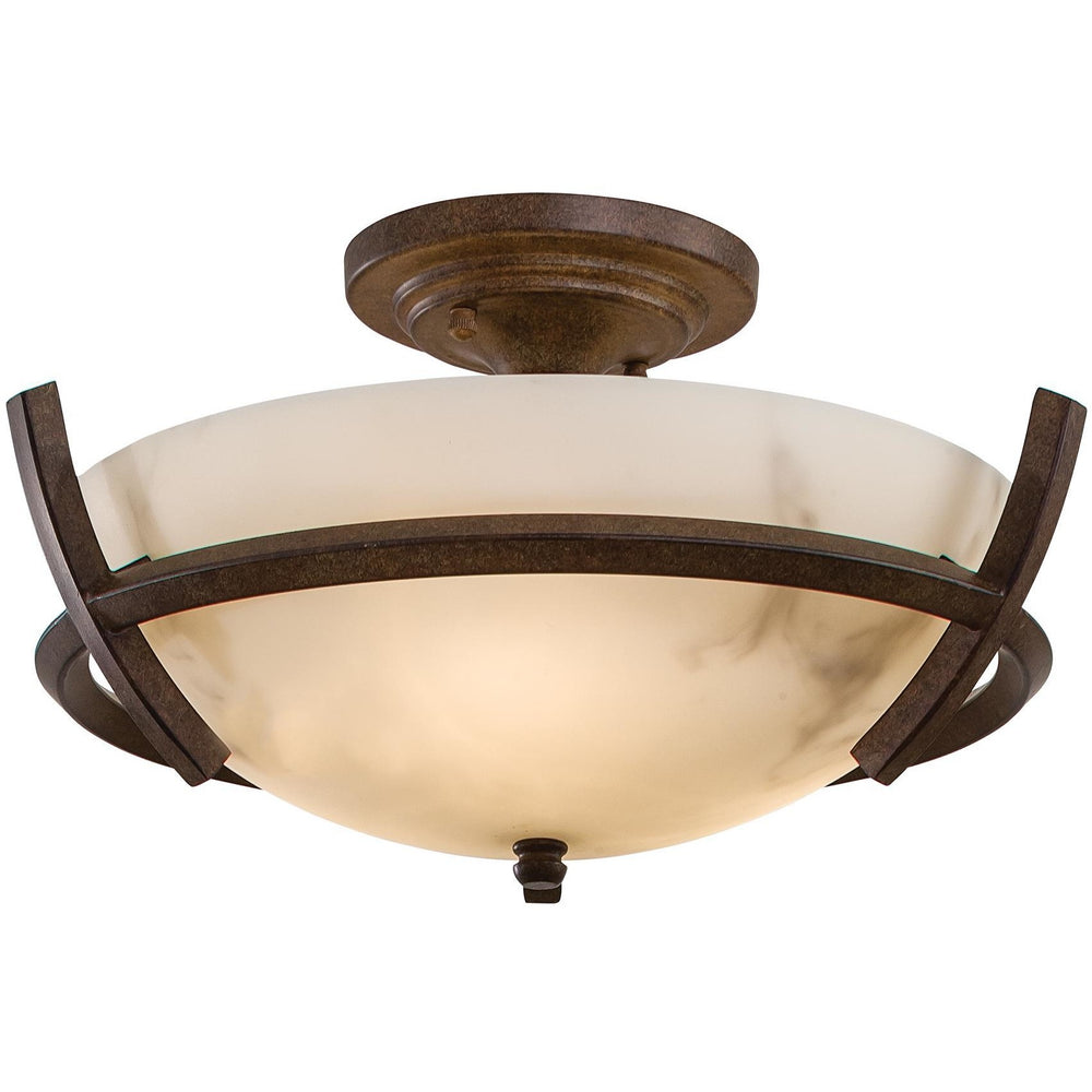 Minka Lavery 687-14 Calavera 3 Light Semi Flush Mount