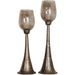 Uttermost 18848 Badal Antiqued Gold Candleholders Set of 2