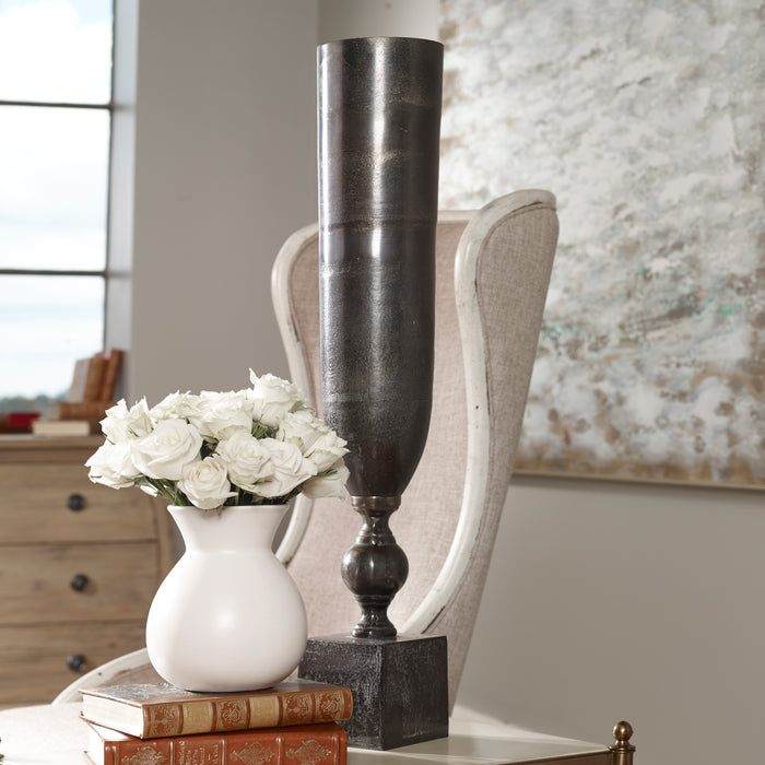 Uttermost 18959 Kaylie Black Nickel Vase