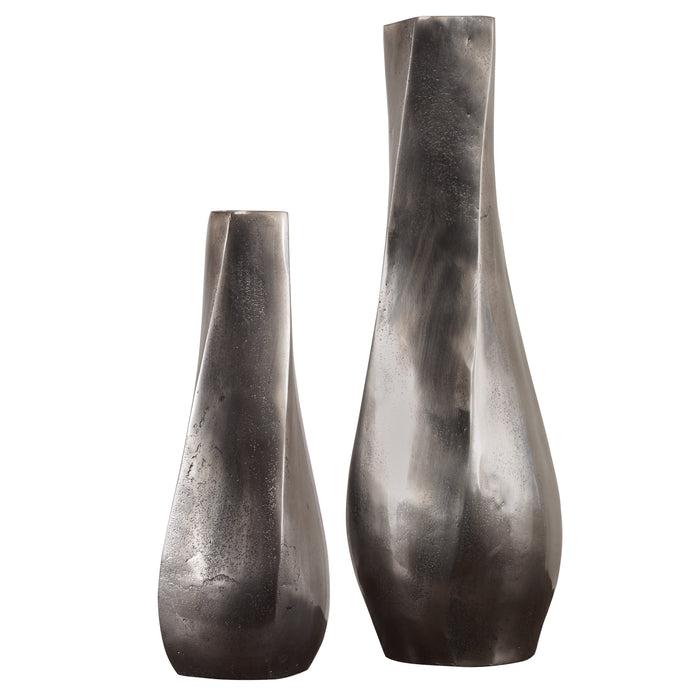 Uttermost 18967 Noa Dark Nickel Vases Set of 2