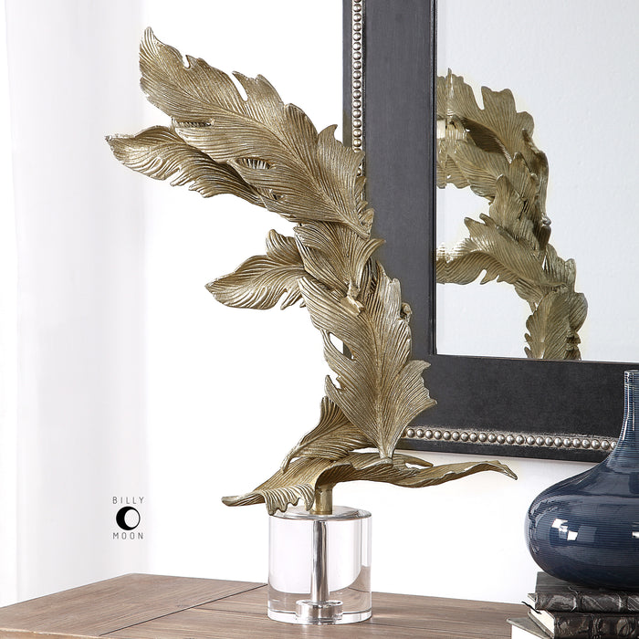 Uttermost 17513 Fall Leaves Champagne Sculpture