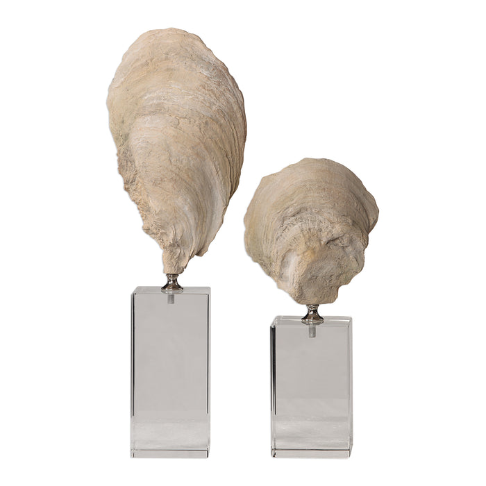 Uttermost 17523 Oyster Shell Sculptures, Set of 2
